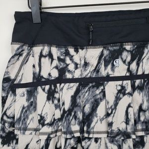 Lululemon Pace Setter Skirt Run Marble Black 8